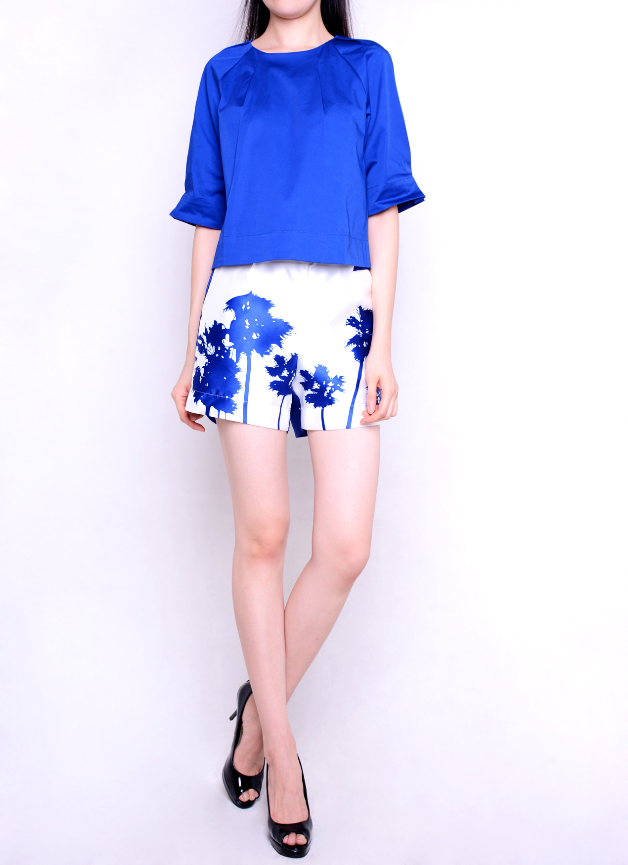 POLYCON SILHOUTTE PRINT SHORTS - PANTS - Products | ONANOKO